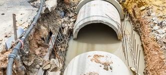 In onbruik geraakte rioleringen dienen afgevuld te worden met zand om instortingsgevaar te voorkomen.